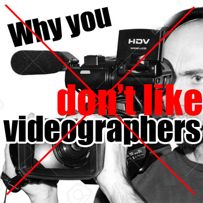 Few reasons why you probably don't want a wedding videographer