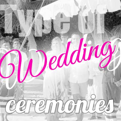 Type of most popular wedding ceremonies around the world